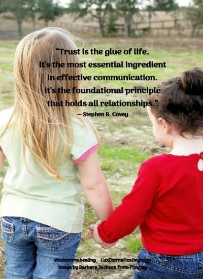 """Trust is the glue of life. It's the most essential ingredient in effective communication. It's the foundational principle that holds all relationships."" ― Stephen R. Covey"