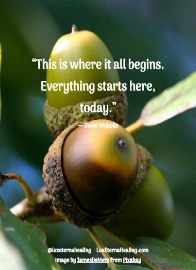 """This is where it all begins. Everything starts here, today."" ― David Nicholls"
