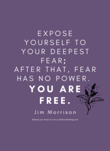 Expose yourself to your deepest fear; after that, fear has no power. You are free. -Jim Morrison