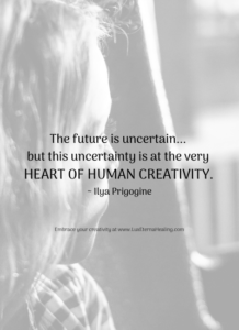The future is uncertain... but this uncertainty is at the very heart of human creativity. ~ Ilya Prigogine