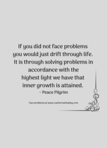 If you did not face problems you would just drift through life. It is through solving problems in accordance with the highest light we have that inner growth is attained. ~ Peace Pilgrim
