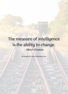The measure of intelligence is the ability to change. ~ Albert Einstein